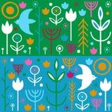 Folk art pattern Stock Photos