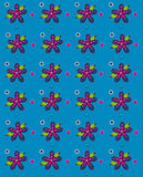 Folk Art Petals Blue Royaltyfri Foto