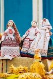 Folk art rag doll souvenir from Belarus Stock Photo