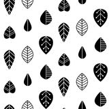 Folk art  seamless pattern with decorative leaves. Good for print. Scandinavian style. Vector illustration Royalty Free Stock Photos