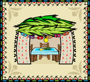 Folk Art Sukkah Royalty Free Stock Photos
