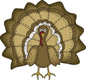 Folk Art Turkey Royalty Free Stock Photo