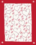 Folk art valentine Stock Photography
