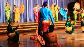 Folk artists performing culture and traditional dance stock video footage