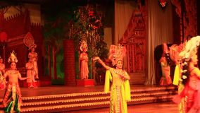 Folk artists performing culture and traditional dance stock video