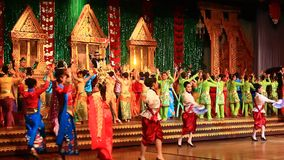 Folk artists performing culture and traditional dance stock footage