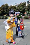 Folk arts parade Royalty Free Stock Image