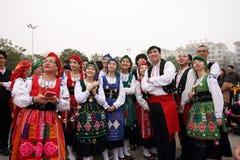 Folk arts parade Royalty Free Stock Photos