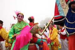 Folk arts parade Royalty Free Stock Images