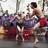 folk australiensiska dansare Fotografering för Bildbyråer