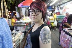 Folk av Bangkok Arkivfoton