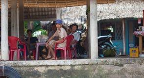 Folk av den Mekong deltan, Cai Be, Vietnam Arkivfoto