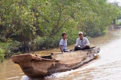 Folk av den Mekong deltan, Cai Be, Vietnam Arkivfoton