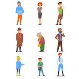 Folk av den olika livsstilen, åldern och yrket royaltyfri illustrationer