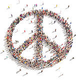 Folk av fred royaltyfri illustrationer