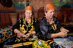 Folk av Kelabit Arkivfoto
