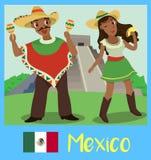 Folk av Mexico Arkivbilder