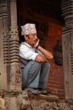 Folk av Patan, Nepal Arkivbilder