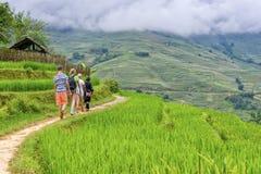 Folk av Sa-PA i Vietnam Arkivfoton