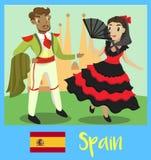 Folk av Spanien Arkivbilder