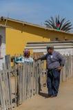 Folk av världen - afrikanska höga par Arkivfoton