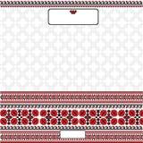 Folk background style Ukrainian banner with flower Stock Photography