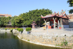 Folk belief place by the lake. Small earth temple in the village, xiaodeng island, amoy city, china. here is about to build a new airport. the whole island will royalty free stock photography