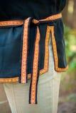 Folk belt on shirt Royalty Free Stock Images