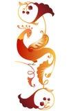 Folk Bird Ornament Royalty Free Stock Images
