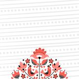 Folk blom- broderibakgrund 2 vektor illustrationer