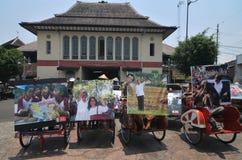 Folk CelebrateThe Inaguration av den indonesiska nya presidenten Royaltyfri Bild
