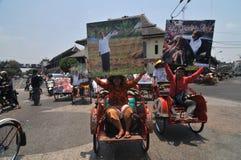 Folk CelebrateThe Inaguration av den indonesiska nya presidenten Arkivbild