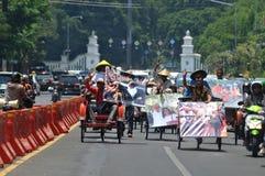 Folk CelebrateThe Inaguration av den indonesiska nya presidenten Arkivfoto