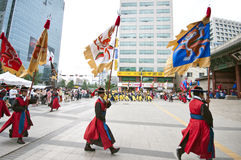 Folk celebrations in Seoul Stock Photo