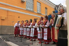 Folk Choir. National Ukrainian Folk Choir. city Festival Royalty Free Stock Image