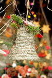 Folk christmas grass bell Stock Photo