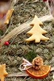 Folk Christmas spruce tree Royalty Free Stock Photography
