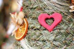 Folk Christmas spruce tree Royalty Free Stock Images