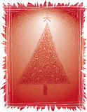Folk Christmas Tree Stock Photography