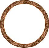 Folk circle frame. Decorative circle frame made from Traditional latvian folk belt Royalty Free Stock Photos