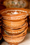 Folk clay tableware Stock Image