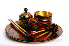 Folk Collection. Russian National Folk wooden collection Royalty Free Stock Photos