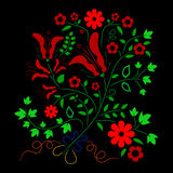 Folk colorful floral ornament element Royalty Free Stock Images