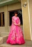 Folk costume, Kaesong, North-Korea Stock Photos