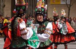Folk costumes Stock Image