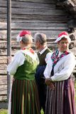 Folk Costumes from Finland Royalty Free Stock Photos