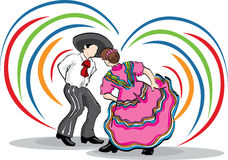 Folk Couple DAncing Stock Images