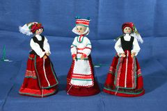 Folk craft, toys from straw, flax, weaving. Souvenirs, folk craft, toys from straw, flax, weaving royalty free stock photos