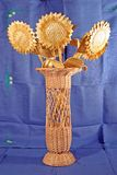 Folk craft, toys from straw, flax, weaving. Souvenirs, folk craft, toys from straw, flax, weaving royalty free stock photography