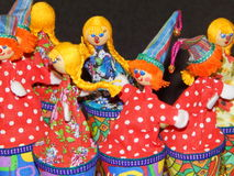 Folk crafts. Dolls. Ladja-2014. Spring fantasy - the exhibition of folk crafts. Moscow. March, 2014 stock photo